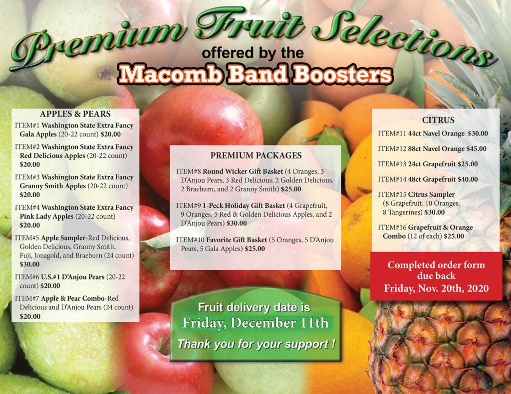 Fruit Fundraiser Flyer