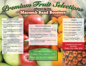Fruit Fundraiser Flyer